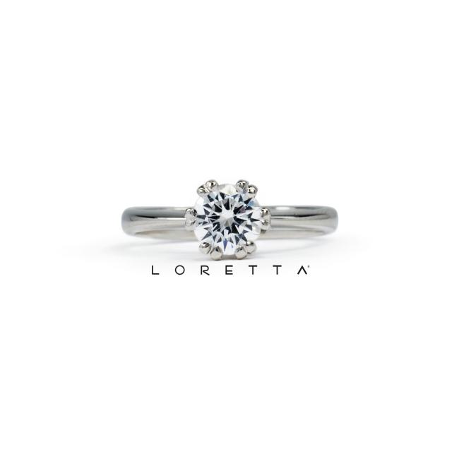 krásny zásnubný prsteň s diamantom