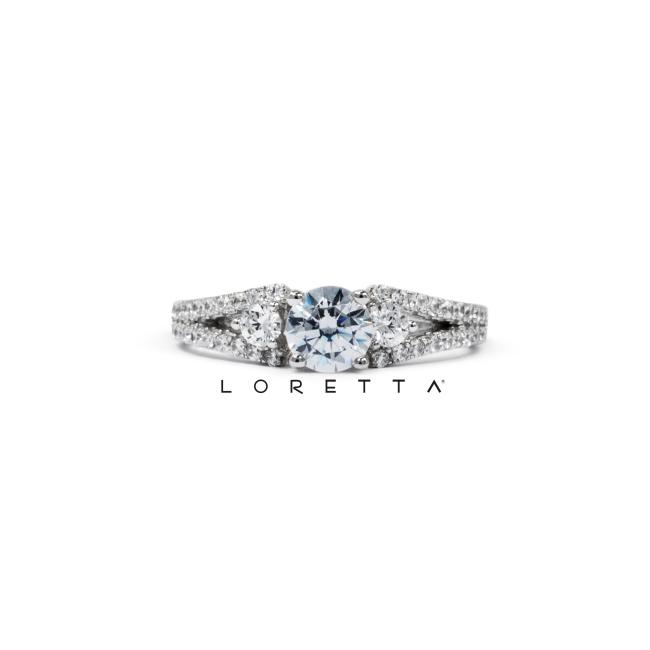 strieborný zásnubný prsten
